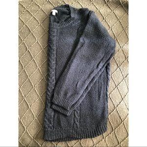 Long Sleeve Navy Blue knit sweater